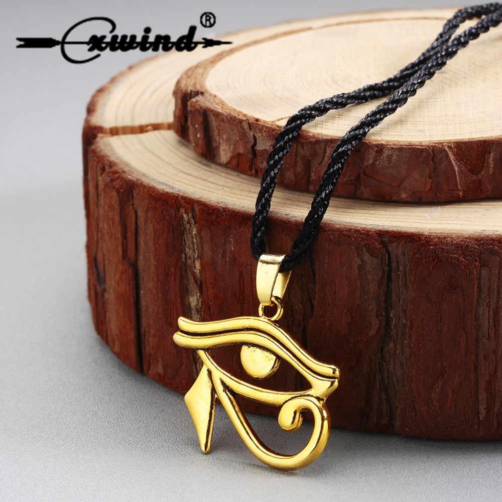 Cxwind 2018 Mắt Của Horus Duyên Dáng Mặt Dây Chuyền Vòng Cổ Ai Cập Cổ Đại Chữ Rune Cổ Đồng Bộ Trang Sức Dây Chuyền Choker