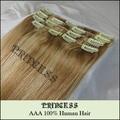 """15 """" 20 """" 22 """" Remy cabelo clipes retas em extensões de 75 g 12/613"""
