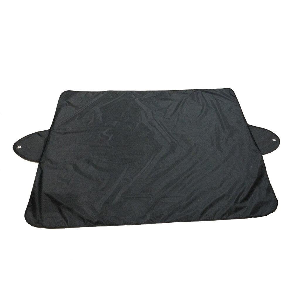 Черный Автомобильный солнцезащитный козырек, 1 шт., 150x120 см, блочный экран, лобовое стекло, крышка для заднего снега, защита для льда, козырек, солнцезащитный козырек, Прямая поставка, 19Y15