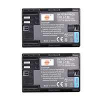 DSTE 2x LP-E6 LP-E6N lp e6n Batterie pour Canon EOS 6D 7D 60D 60Da 70D 80D 5DSR 7D Mark II 5DS 5D Mark II 5D Mark III 5D Mark IV