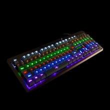 Механическая клавиатура 104 ключей синий чёрный; коричневый красный gateron переключатель Подсветка Gaming Keyboard USB проводной для PC Gamer OTG fps CS