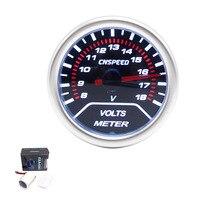 CNSPEED Frete grátis 2 polegada 52mm Lente Fumaça Corridas de Carro Voltímetro 8 ~ 18 V Led Vermelho Volt Medidor/Car Meter/Auto Bitola TT101232
