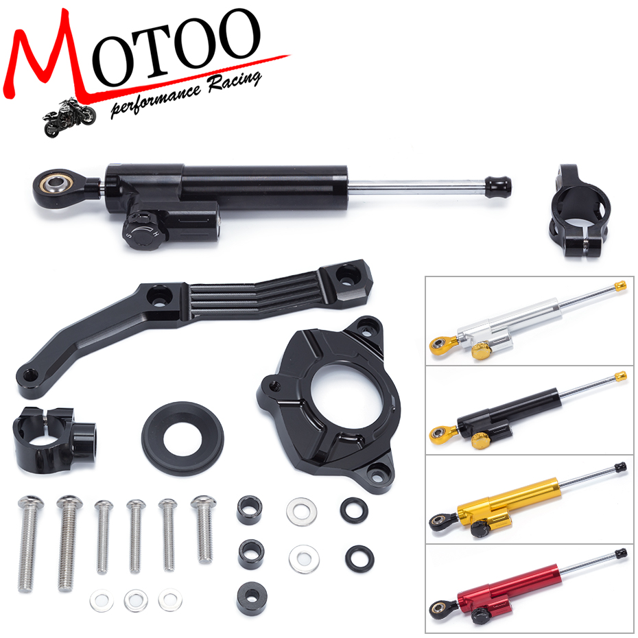 Motoo - FREE SHIPPING For KAWASAKI Z1000 2010-2013 Motorcycle Aluminum Steering Damper Stabilizer linear Mounting Bracket Kit fxcnc aluminum motorcycle steering stabilizer damper mounting bracket support kit for yamaha fz1 fazer 2006 2015 2007 2008 09