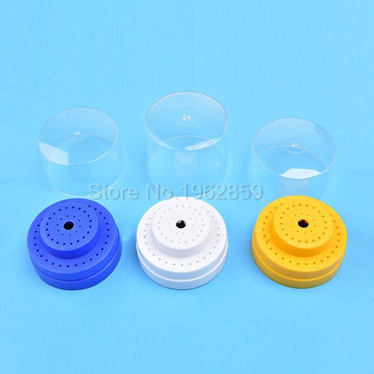 10Pcs-Dental-Tungsten-Steel-Nitrate-Carbide-Burs-Drills-Dentistry-2.35mm-Dental-Burs+1pc 60-Hole-Block-3