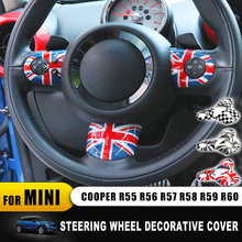 For Mini Cooper Steering Wheel Cover Interior Decoration Accessories Stickers for R55 R56 R57 R58 R59 R60 Clubman Countryman