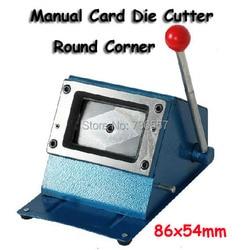 Heavy Duty 3.38*2.12 inch (86*54mm) Rotondo di Carta di Carta di Taglio Manuale Della Carta del PVC Puncher manuale Carta di Plastica Die Cutter