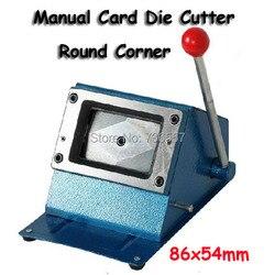 Heavy Duty 3,38*2,12 zoll (86*54mm) Runde Manuelle Papier Karte Schneiden Pvc-karte Puncher manuelle Kunststoff Karte Stanzmaschine