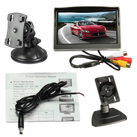 Black Monitor For Rear View Camera 5 Inch Monitor 800*480 Tft Lcd Hd Screen Monitor For Car Rear Reverse Rearview Backup Camera