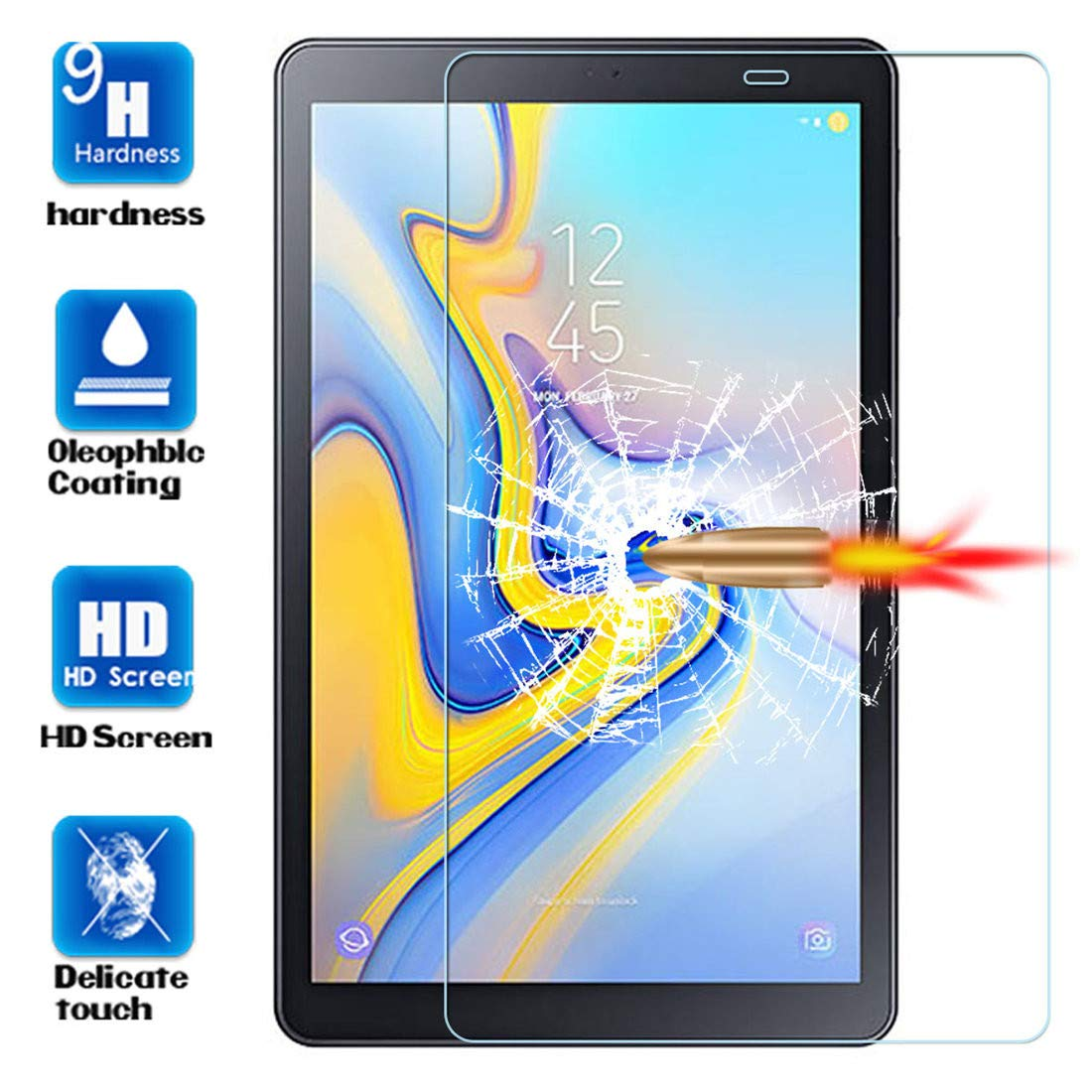 Tempered Glass For Samsung Galaxy Tab A 10.1 2019 T510 T515 SM-T510 SM-T515 Screen Protector Scratch Proof Protective Glass Film
