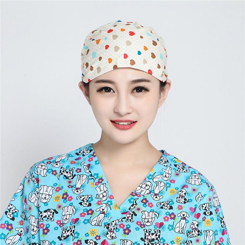 436be6f0803 Surgical Caps Doctor Nurse Medical Cap Woman Beautician Cap Printing ...