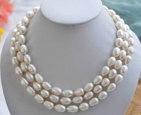 Classic 8 - 9 mm South Sea White Pearl Baroque Necklace 48 Inch>>>  women jewerly Free shipping Classic 8 - 9 mm South Sea White Pearl Baroque Necklace 48 Inch>>>  women jewerly Free shipping