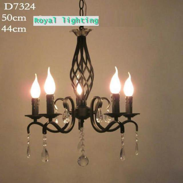 Black antique Wrought Iron chandelier lights Kitchen mini vintage lamp led  candle lamparas Europe bedroom dinng room bar light - Online Shop Black Antique Wrought Iron Chandelier Lights Kitchen