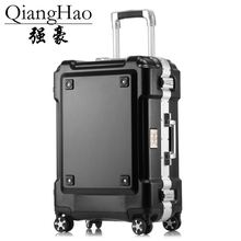 New 24 29 Inch Rolling Luggage Aluminium Frame Trolley Solid Travel Bag 20′ Women Boarding Bag Carry On Suitcases Trunk
