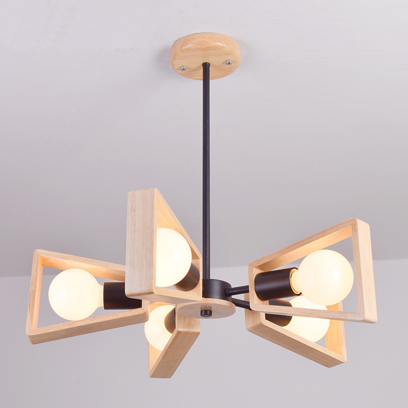 new Modern wood Pendant Light Nordic Style Suspension Luminaire Hanging Lamp Vintage Pendant Lamp Rustic Wood