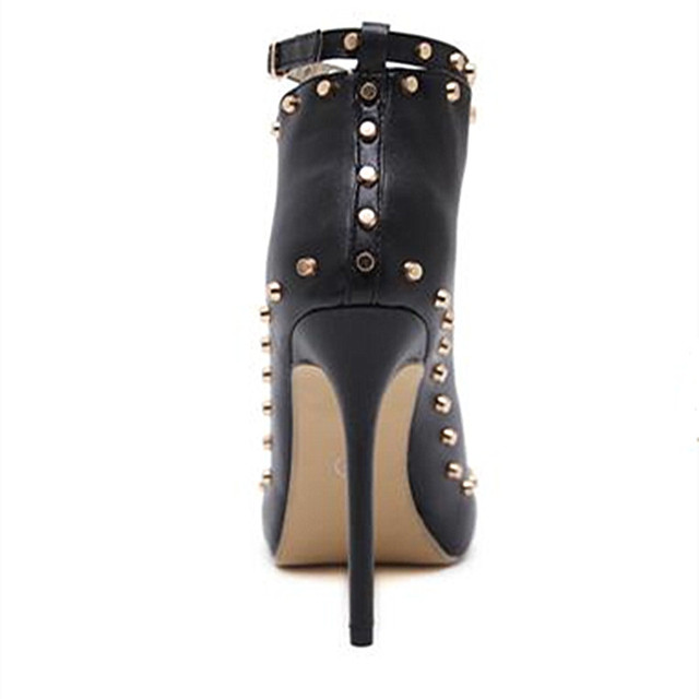 2018Europe Popular Street beat rivet fish mouth shoes High-heeled Catwalk sexy Rome Casual Buckle Strap PU heel 12cm Woman pumps 3