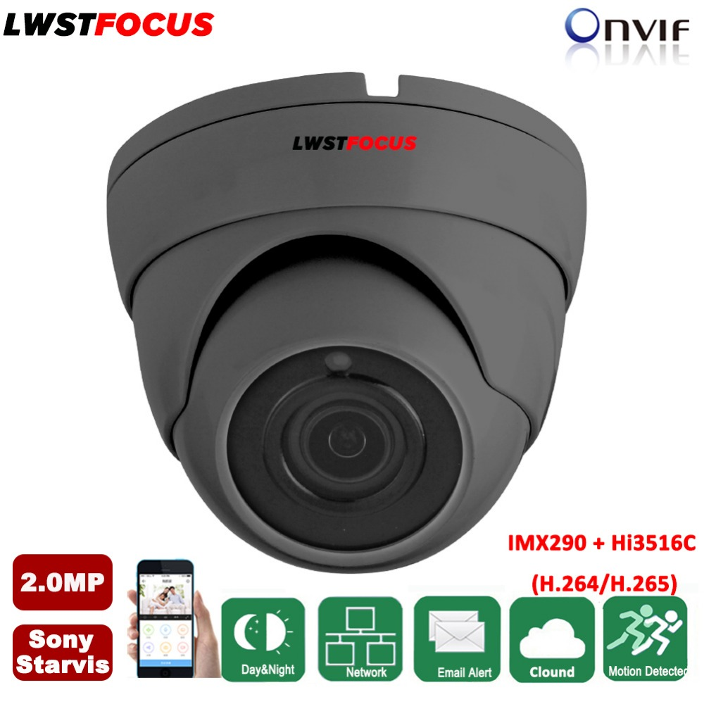 ONVIF IP Camera Sony Starvis IMX290+Hi3516C 1080P H.265/264 Video Surveillance Camera IP 2MP 20M IR In/Outdoor Dome Camera 2 8 12mm varifocal sony starvis imx290 hi3516c 2mp ip camera 1080p h 265 h 264 outdoor ir cctv dome security camera poe onvif