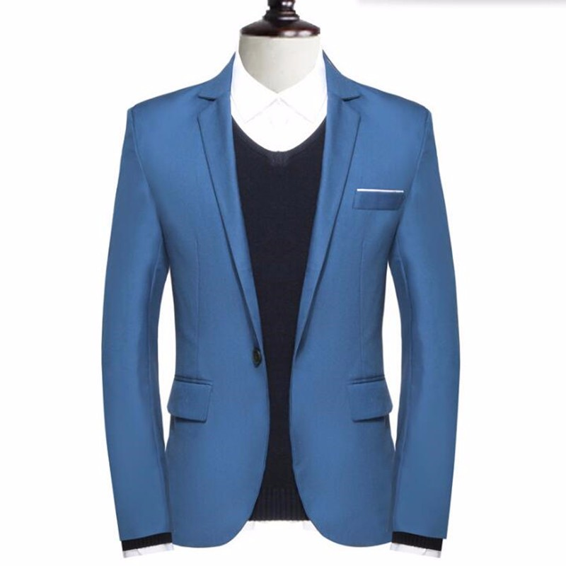 9.1Tailor made men suits jacket pure color one button formal work  suits jacket elegant gentleman groom groomsman tuxedos jacket