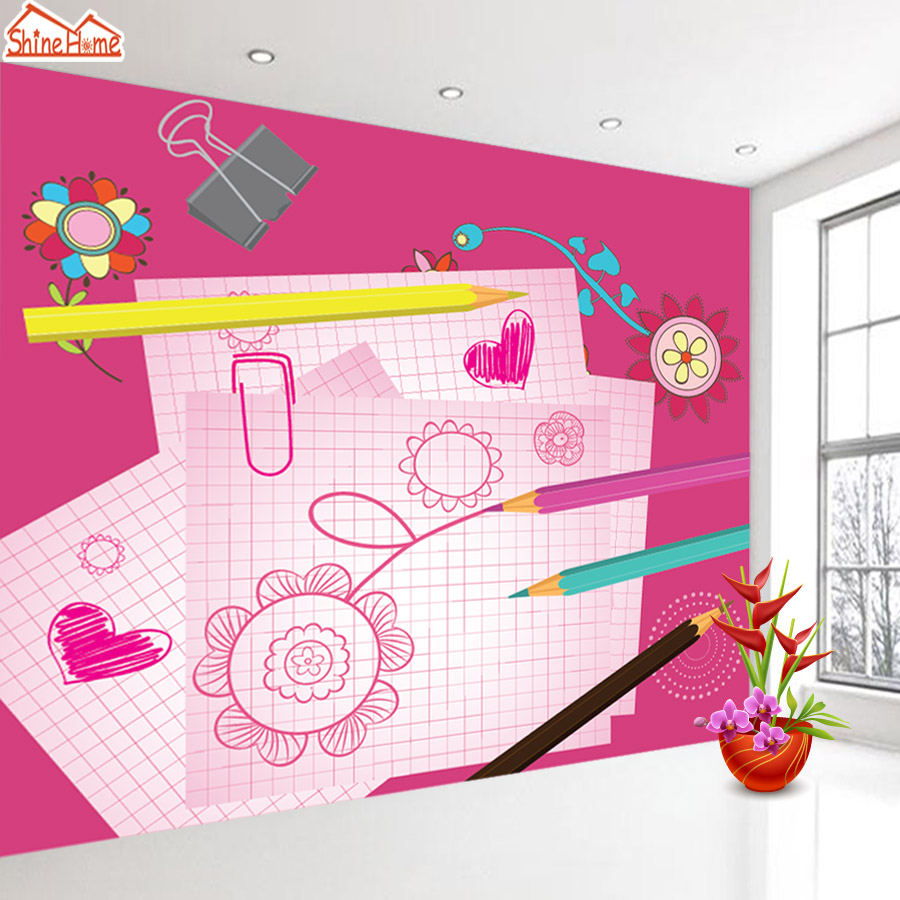 ShineHome-Cartoon Wallpaper Rolls Wallpapers 3d Kids Room Wall Paper Murals for Walls 3 d Wallpapers for Livingroom Mural Roll shinehome sunflower bloom retro wallpaper for 3d rooms walls wallpapers for 3 d living room home wall paper murals mural roll