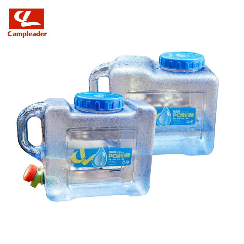 Campleader 5L 8L PVC Water Bucket Hiking Picnic Handy Collapsible Water Bottle Container Outdoor Camping Car Durable Pail CL129