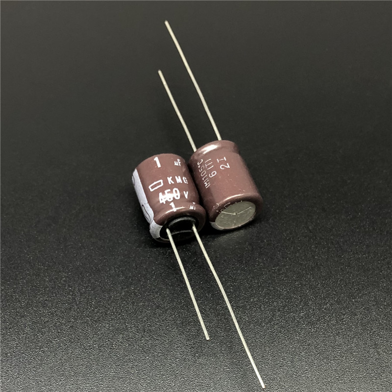 10pcs 1uF 450V Japan NCC KMG Series 10x12.5mm 450V1uF Aluminum Electrolytic Capacitor