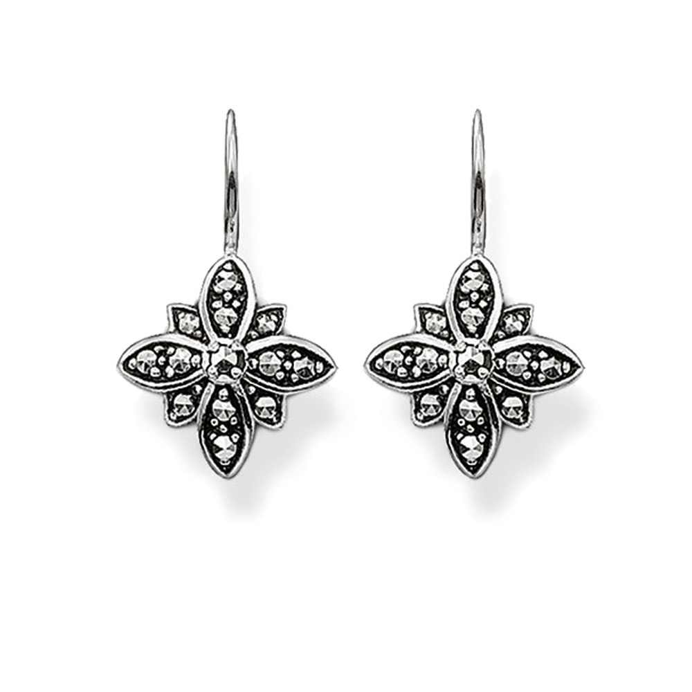 51ad0db52e1 Detail Feedback Questions about Silver Marcasite Black Star Drop ...