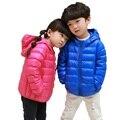 2016 jaqueta de moda infantil das meninas ultra leve para baixo casaco crianças down & parkas doce cor jaqueta de pato para baixo 90% de pato para baixo