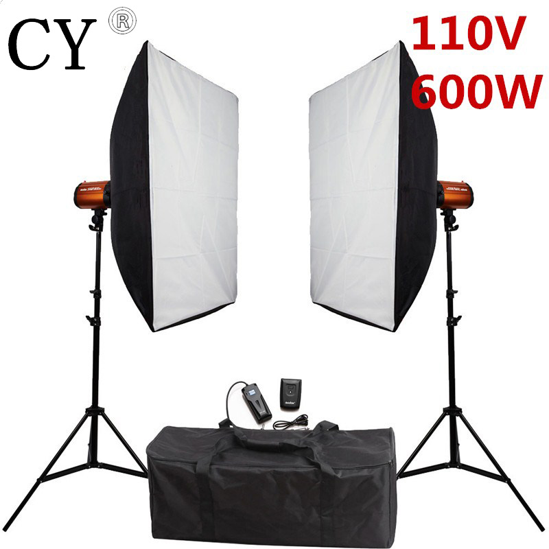 Godox Smart 300SDI Photography Softbox Flash Lighting Kits Photo Studio 600W Strobe Flash Lightbox Stand Set For Photo Studio