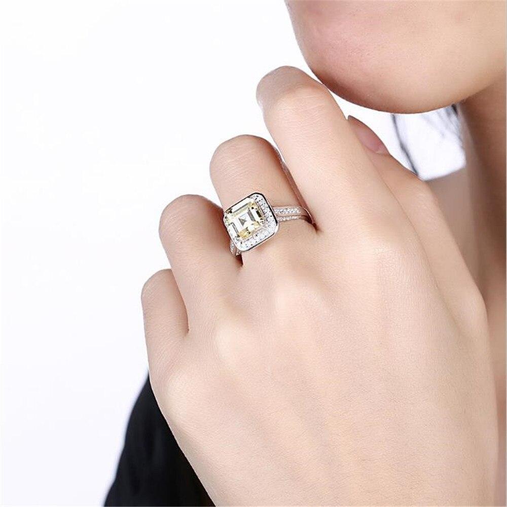 2018 BFQ Simple Fashion Square Diamond Promotion Bezel Setting S925 ...