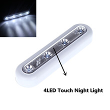 High Brightness 4LED  Wall Lamp Wireless Battery Powered LED Touch Tap Night Light for Home Office