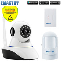 Wireless Door Gap PIR Wifi 720P IP Camera For Home Security Alarm System Wifi GSM SMS