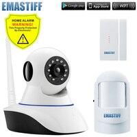 Wireless Door Gap PIR Wifi 720P IP Camera For Home Security Alarm System Wifi GSM SMS