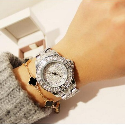 2019 New Women Rhinestone Watches Lady Dress Women watch Diamond Luxury brand Bracelet Wristwatch ladies Crystal Quartz Clocks Islamabad