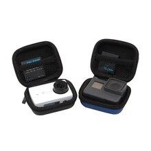 صندوق حقيبة صغيرة الحال بالنسبة ل GoPro بطل 8 7 6 4 3 + أسود جلسة شاومي يي 4K SJCAM EKEN SOOCOO ل الذهاب برو عمل كاميرا الملحقات