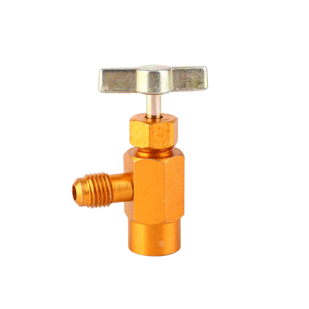 1/4 SAE M14 Thread Adapter R 134a Refrigerant Can Bottle