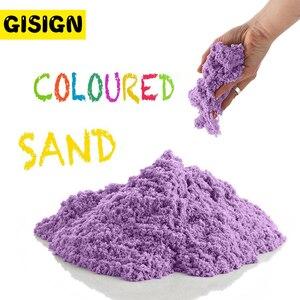 Image 1 - דינמי חול צעצוע חימר חינוכיים צבעוני רך קסם חול חלל מקורה זירה לשחק חול ילדים צעצועים לילדים