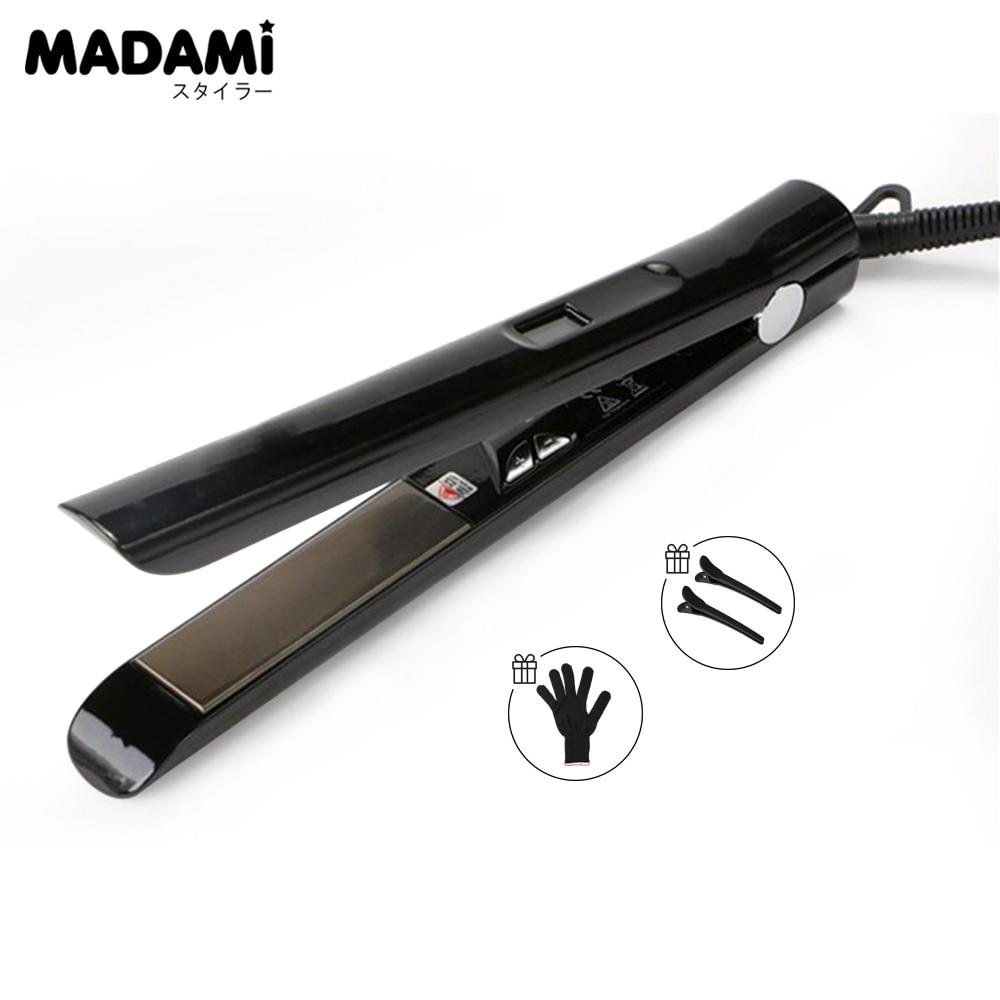madami tratamento do cabelo brasileiro titanio queratina placa flutuante alisador de cabelo eletrico ferro 470f mch