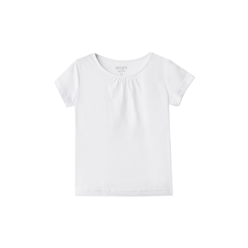 T-Shirts MODIS M182K00376 for girls kids clothes children clothes TmallFS kids outfits letter pattern t shirts in white