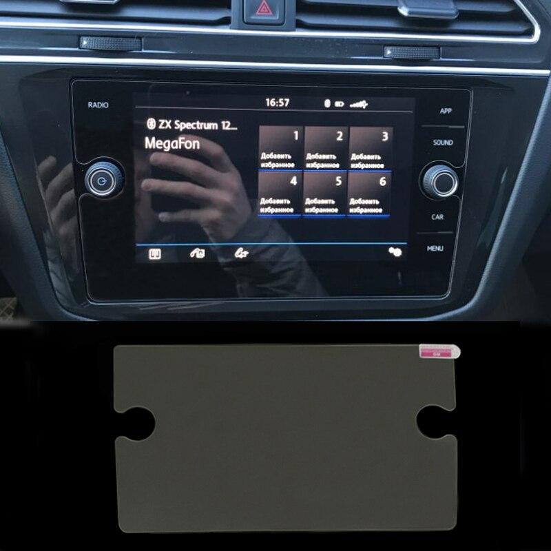 Para Volkswagen Tiguan Teramont Atlas 2018 2019 polegada 8 temperado vidro protetor de tela lcd de navegação do carro filme adesivo
