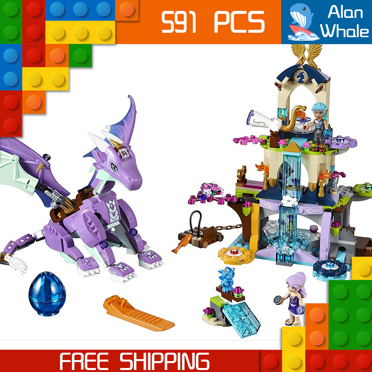 591pcs New The Dragon Sanctuary 10549 Building Kit 3D Model Blocks Children Fairy Tale sets Princess Toys Compatible with Lego 10549 bela elves the dragon sanctuary building bricks kit blocks educational toys compatible with 41178 friends for girl