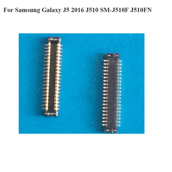2pcs For Samsung Galaxy J5 J 5 2016 J510 SM-J510F J510FN LCD display screen FPC connector logic on motherboard mainboard image