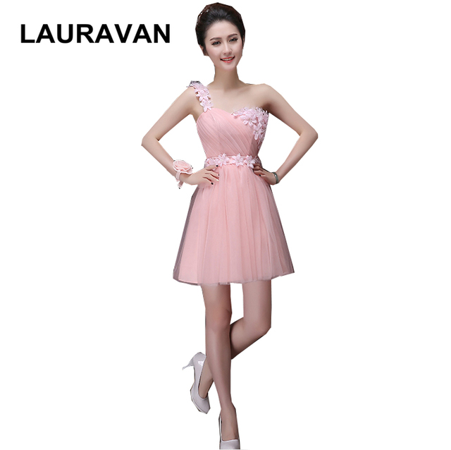 3217e85a861 sweet sixteen light pink one strap sweetheart puffy bridesmaid dress short  elegant corset dresses gowns for special occasion