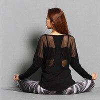 Frauen Yoga Top Frauen Yoga Shirts Langarm Gym Shirts Fitness Kleidung Shirt Weibliche Sport Tops Frauen Sport Hemd