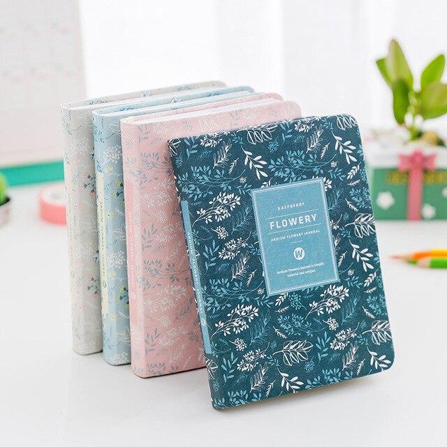 Корейский Новый 2018 Kawaii с цветочным рисунком в винтажном стиле расписание ежегодно дневник еженедельно ежемесячно ежедневник организатор notebook Kawaii A6 повестки дня