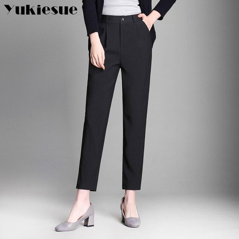 2018 Summer Style Women   Pants     Capris   Woman black formal OL harem   pants   womens Cotton Skinny cotton   Capris   For Women Plus Size