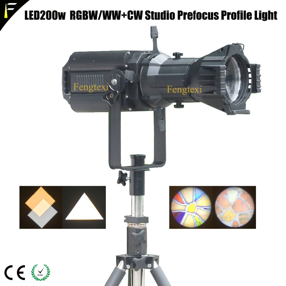 LED 200W WW+CW Prefocus Profile Spot Light Theater/Studio/Auditorium DMX Spot Profile Lights Equipment Warm/Cold Lighting цены