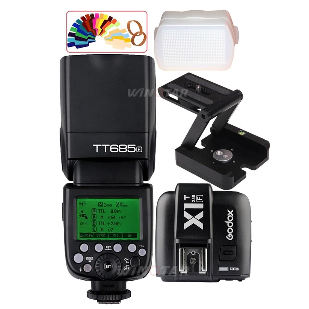 Godox TT685F 2.4G i-TTL Flash + X1T-F Trigger + Z Tripod Bracket Head for Fuji X-Pro2 X-Pro1 X-T20 X-T10 X-T2 X-T1 X100F X100TGodox TT685F 2.4G i-TTL Flash + X1T-F Trigger + Z Tripod Bracket Head for Fuji X-Pro2 X-Pro1 X-T20 X-T10 X-T2 X-T1 X100F X100T