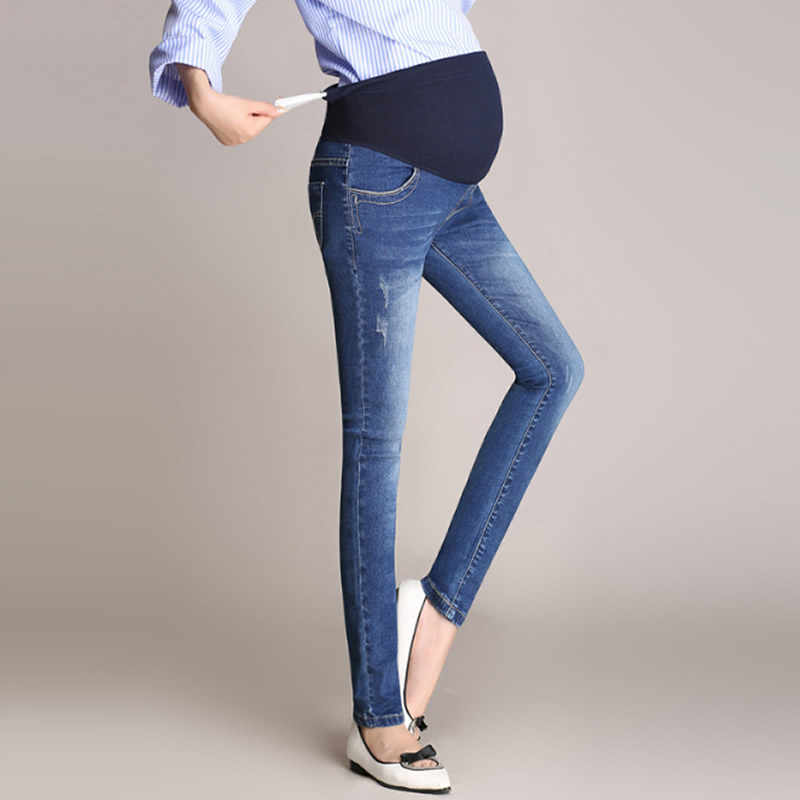 6527d5ced 2018 Pregnancy clothes jeans Women High Waisted Sexy Maternity Jeans Skinny