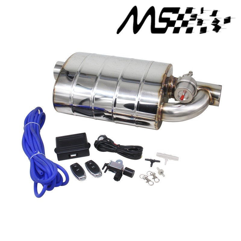 Stainless Steel 2.5 Slant Outlet Tip 2.5Inlet Weld On Single Exhaust Muffler with different sounds/Dump Valve Exhaust Cutout