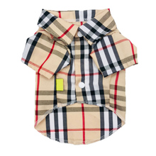 3fc7c6194eff Spring Summer Pet Dog T-shirt Cool Plaid Dog Clothes for Small Dogs  Chihuahua Shih