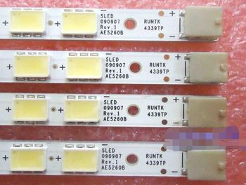 Beented 4 Piece/set LED strip SLED 090907 REV.1 AE5260B RUNTK 4339TP 4340TP for LK520D3LB1S KDL-52EX700 63 LED 585MM,used part 2 piece new kdl 46ex700 lk460d3la8s led 090907 1 ae4660b runtk4337tp 54led 520mm